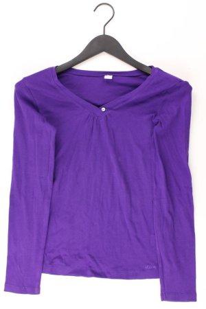s.Oliver Shirt mit V-Ausschnitt Größe 36 Langarm lila aus Baumwolle