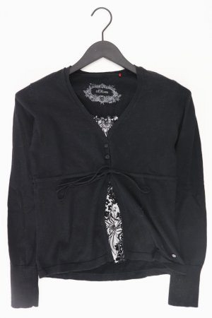 s.Oliver Shirt mit V-Ausschnitt Größe 36 Langarm schwarz aus Baumwolle