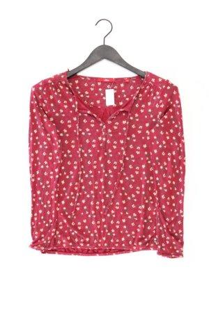 s.Oliver Shirt mit V-Ausschnitt Größe 36 mit Blumenmuster Langarm rot aus Viskose