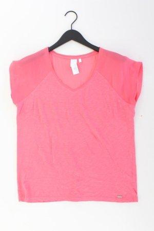 s.Oliver Shirt mit V-Ausschnitt Größe 42 Kurzarm pink