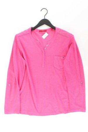 s.Oliver Shirt mit V-Ausschnitt Größe 44 Langarm pink