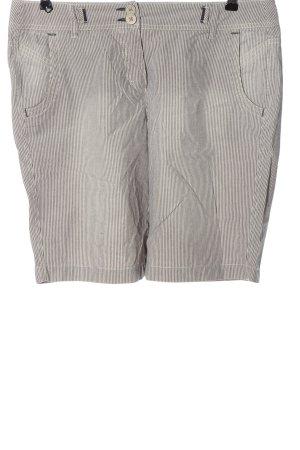 s.Oliver Shorts weiß-schwarz Streifenmuster Casual-Look