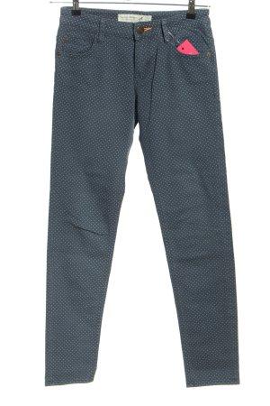 s.Oliver Skinny Jeans blau-weiß Punktemuster Casual-Look