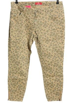 s.Oliver Pantalone cinque tasche crema-marrone stampa integrale stile casual