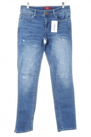 s.Oliver Slim Jeans stahlblau Casual-Look