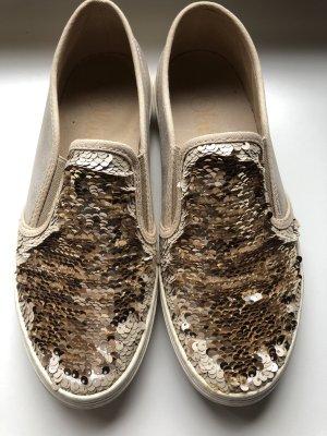 s.Oliver Zapatos formales sin cordones crema-color oro