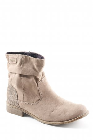 s.Oliver Slouch Booties camel animal pattern casual look