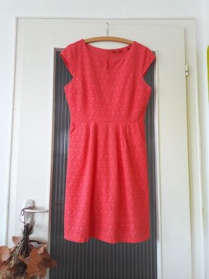 s.Oliver Babydoll Dress bright red cotton