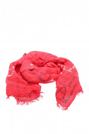 s.Oliver Summer Scarf red printed lettering casual look