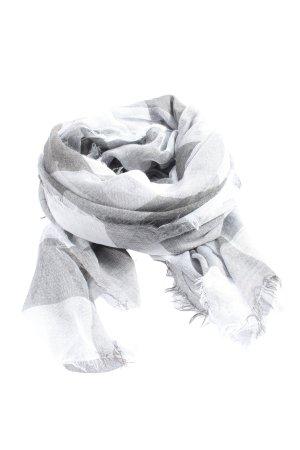 s.Oliver Chal veraniego gris claro-blanco estampado a cuadros look casual