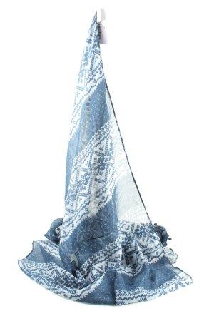 s.Oliver Chal veraniego azul-blanco estampado repetido sobre toda la superficie