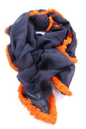 s.Oliver Summer Scarf blue-light orange casual look