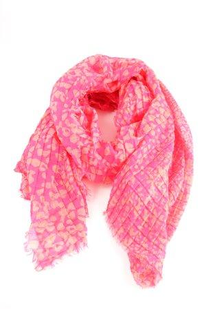 s.Oliver Chal veraniego rosa-crema estampado de leopardo look casual