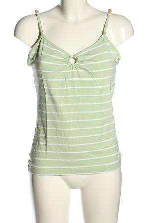 s.Oliver Spaghettibandtopje groen-wit gestreept patroon casual uitstraling