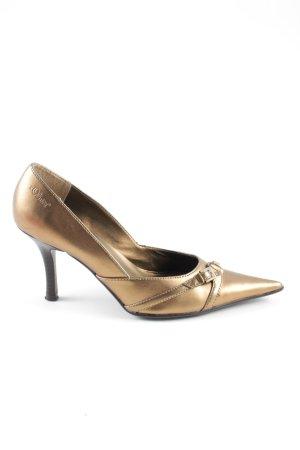 s.Oliver Spitz-Pumps bronzefarben extravaganter Stil