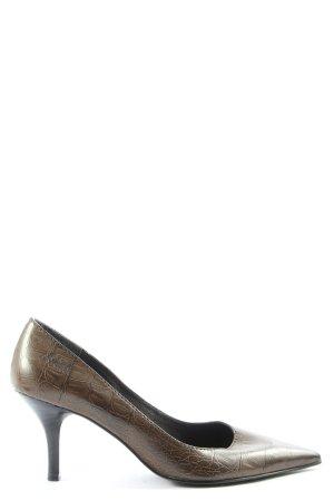 s.Oliver Spitz-Pumps bronzefarben Animalmuster Elegant