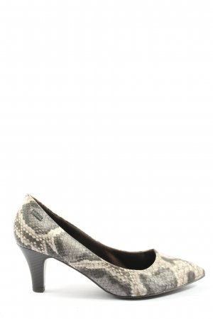 s.Oliver Pointed Toe Pumps light grey-nude animal pattern casual look