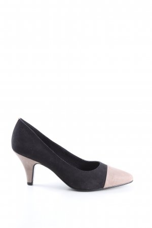 s.Oliver Spitz-Pumps schwarz-creme Business-Look