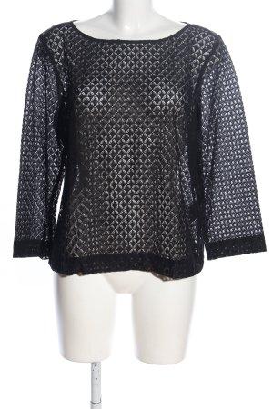 s.Oliver Spitzenbluse schwarz grafisches Muster Elegant