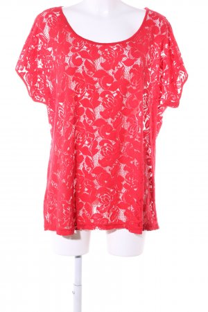 s.Oliver Spitzenbluse rot Blumenmuster Casual-Look