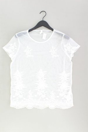s.Oliver Spitzenbluse Größe 42 neuwertig Kurzarm weiß aus Polyamid