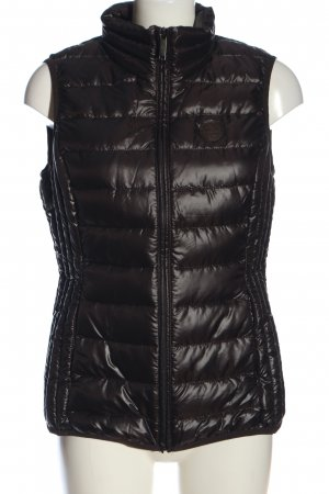 s.Oliver Quilted Gilet black quilting pattern casual look