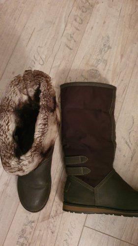 s.Oliver Futrzane buty brązowy