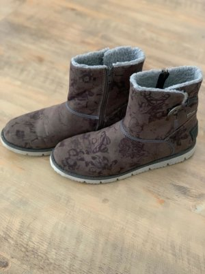 s.Oliver Botines slouch gris-marrón