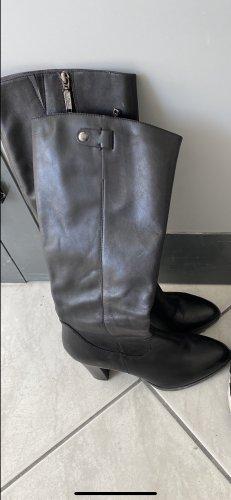 s.Oliver Wysokie buty na obcasie czarny