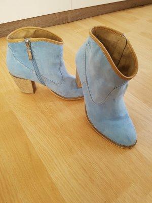 Stivaletto western azzurro