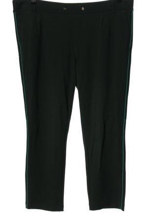 s.Oliver Stoffhose schwarz-grün Streifenmuster Casual-Look