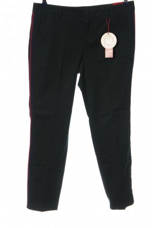 s.Oliver Stoffhose schwarz-rot Casual-Look