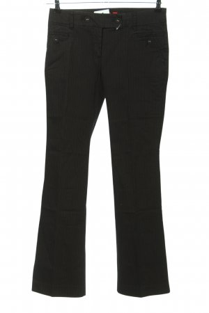 s.Oliver Stoffhose schwarz Allover-Druck Casual-Look