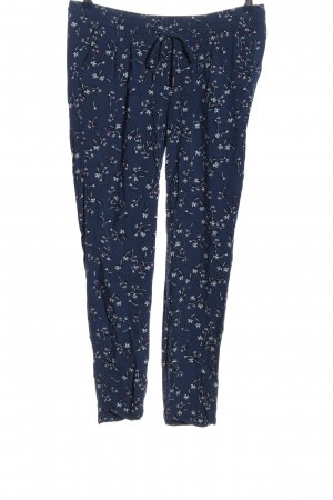 s.Oliver Stoffhose blau Allover-Druck Casual-Look