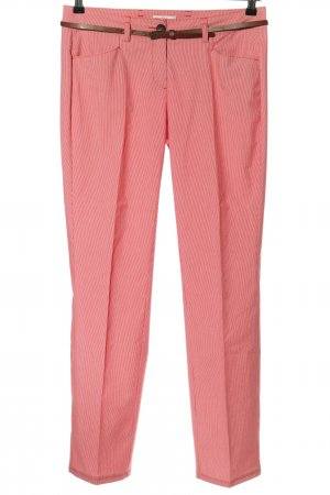 s.Oliver Stoffhose pink-weiß Streifenmuster Casual-Look