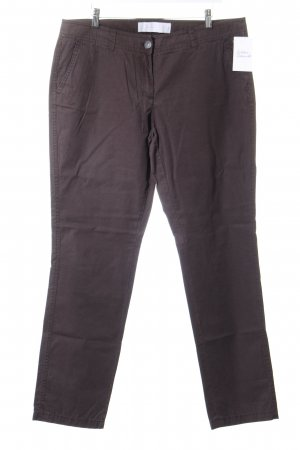 s.Oliver Stoffhose dunkelbraun Casual-Look