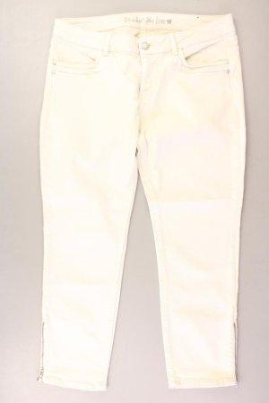 s.Oliver Straight Jeans Größe 42 creme aus Baumwolle
