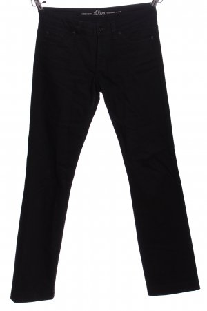 s.Oliver Straight-Leg Jeans schwarz Business-Look