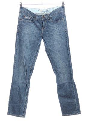 s.Oliver Jeans coupe-droite bleu style décontracté