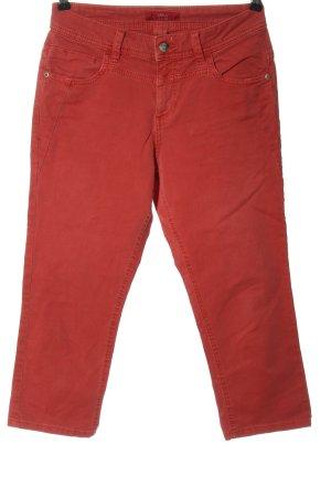 s.Oliver Jeansy 3/4 czerwony W stylu casual