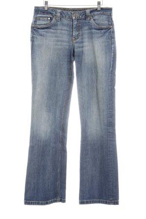 s.Oliver Straight-Leg Jeans kornblumenblau-stahlblau Vintage-Look