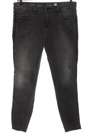s.Oliver Stretch Jeans hellgrau Casual-Look