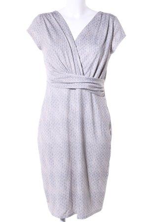 s.Oliver Stretch jurk wit-lila volledige print zakelijke stijl