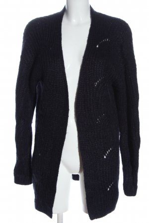 s.Oliver Strick Cardigan blau Zopfmuster Casual-Look