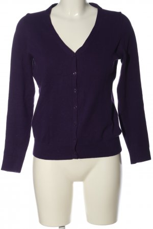 s.Oliver Strick Cardigan lila Casual-Look