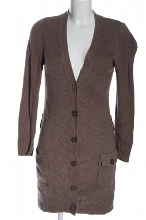 s.Oliver Strick Cardigan braun meliert Casual-Look