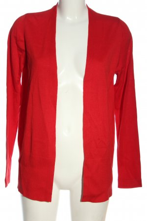 s.Oliver Strick Cardigan rot Zopfmuster Casual-Look