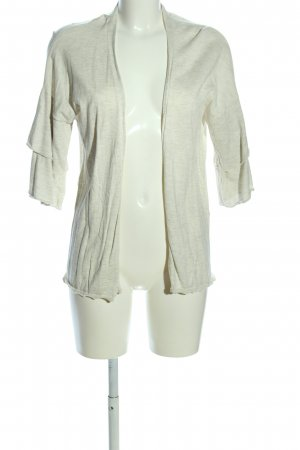s.Oliver Strick Cardigan wollweiß meliert Casual-Look