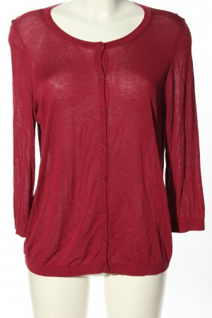 s.Oliver Strickjacke rot Zopfmuster Casual-Look