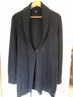 s.Oliver Gebreide jas donkerblauw